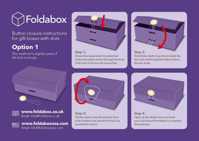 Sample Purple Sapphire Gemstone Gift Box Closure Assembly Instructions Option 1