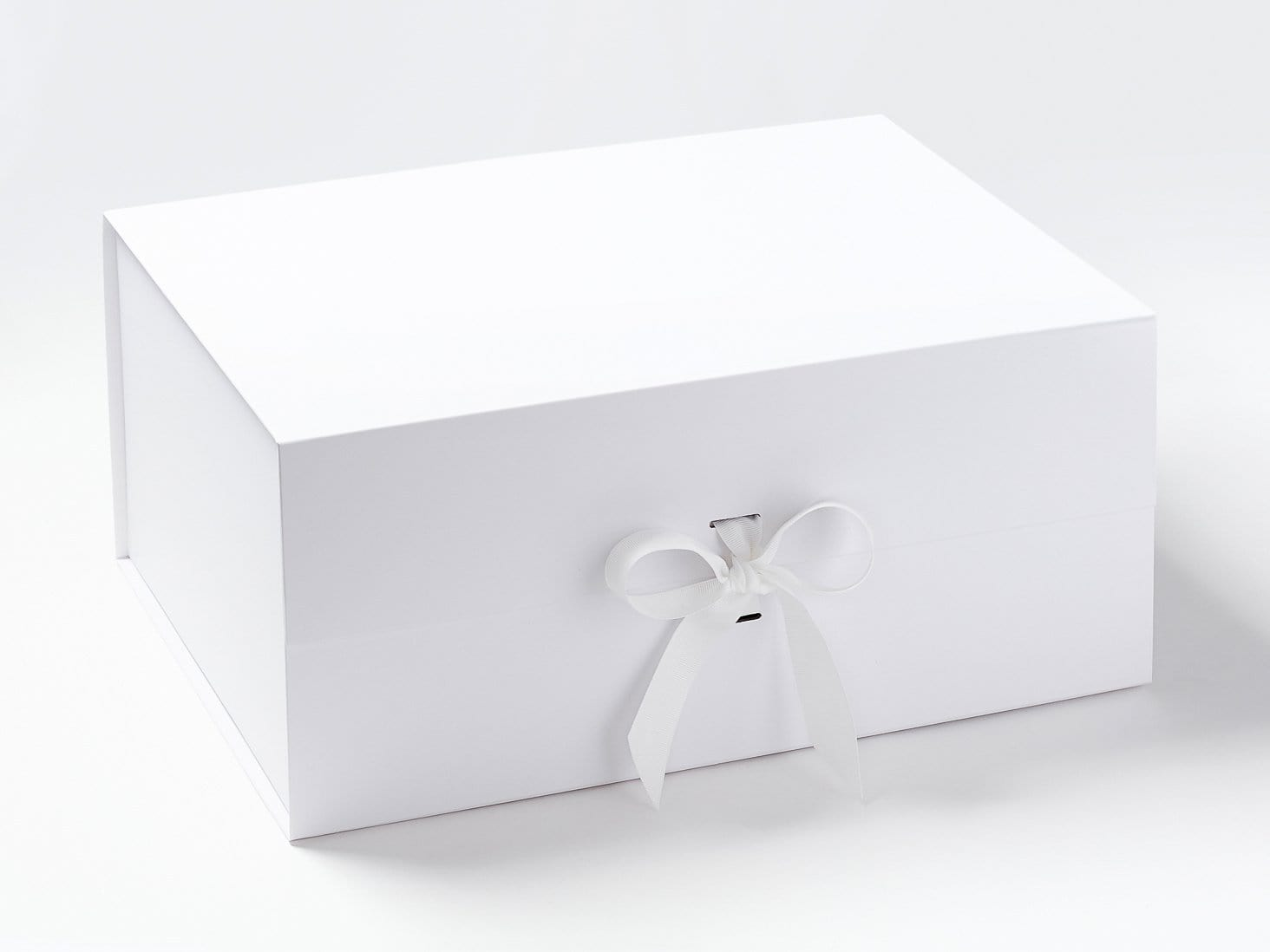 White Sample A3 Deep Gift Box with changeable ribbon