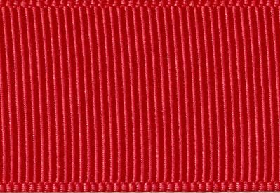 Sample Hot Red 80cm Grosgrain Ribbon