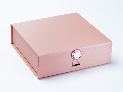 Rose Gold Gift Box with Rose Quartz Gemstone Closure