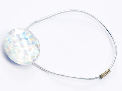 Rainbow Crystal Gemstone Closure with Silver Elastic