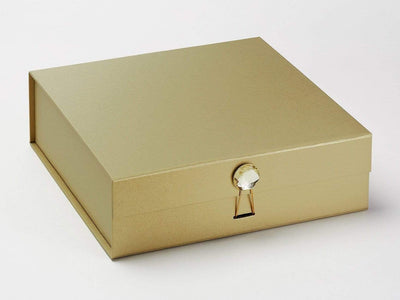 Example of Citrine Gemstone on Gold Folding Gift Box