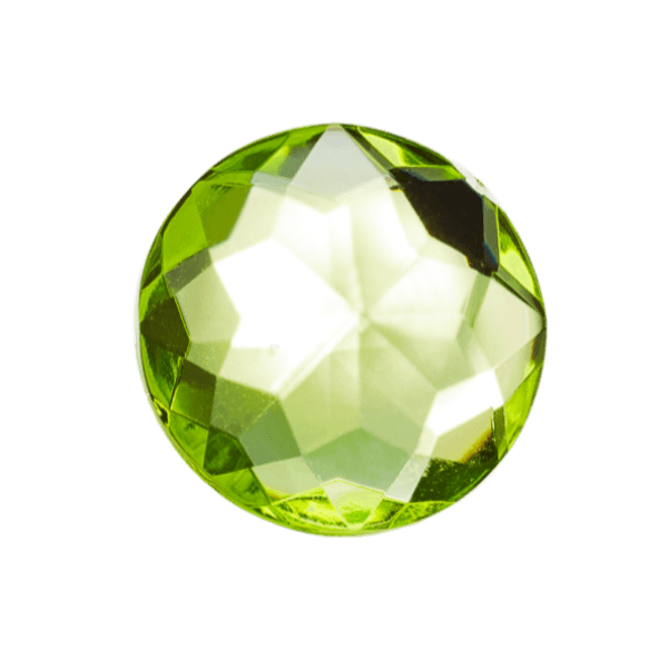 Peridot Gemstone Decorative Gift Box Closure Sample
