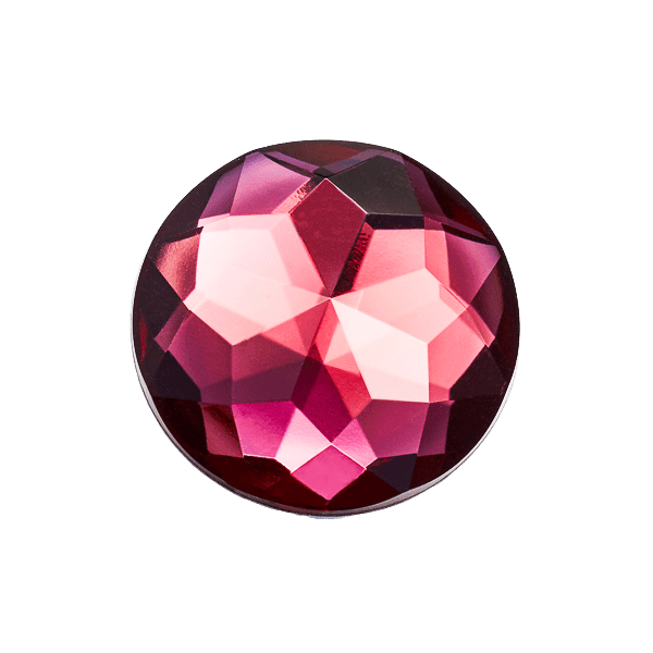 Garnet Gemstone Decorative Gift Box Closure Sample