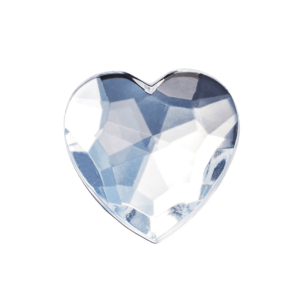 Diamond Heart Decorative Gemstone Closure