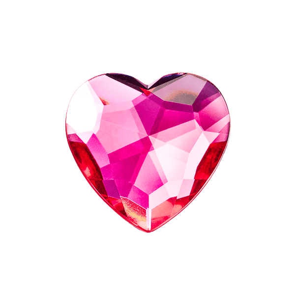 Pink Spinel Heart Decorative Gemstone Gift Box Closure Sample