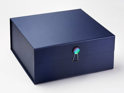 Navy Blue XL Deep Gift Box Featured with Rainbow Moonstone Dome Closure