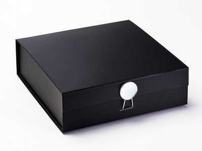 Black Luxury Folding Gift Box Featured with Mirror Disc Closure