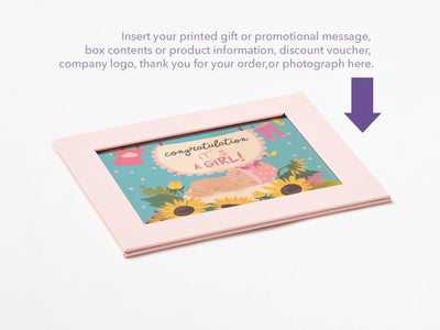 Pale Pink Photo Frame Assembled with Example of Your Own Printed Insert