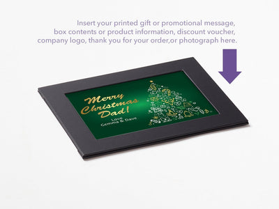 Black Photo  Frame With Your Custom Printed Insert or Photograph