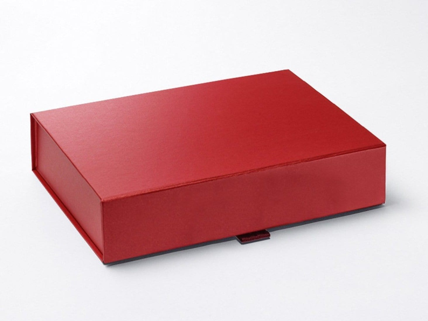 A4 Shallow Red Pearl Folding Gift Box with magnetic closure