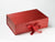 Red A4 Deep Gift Box with changeable ribbon from Foldabox UK