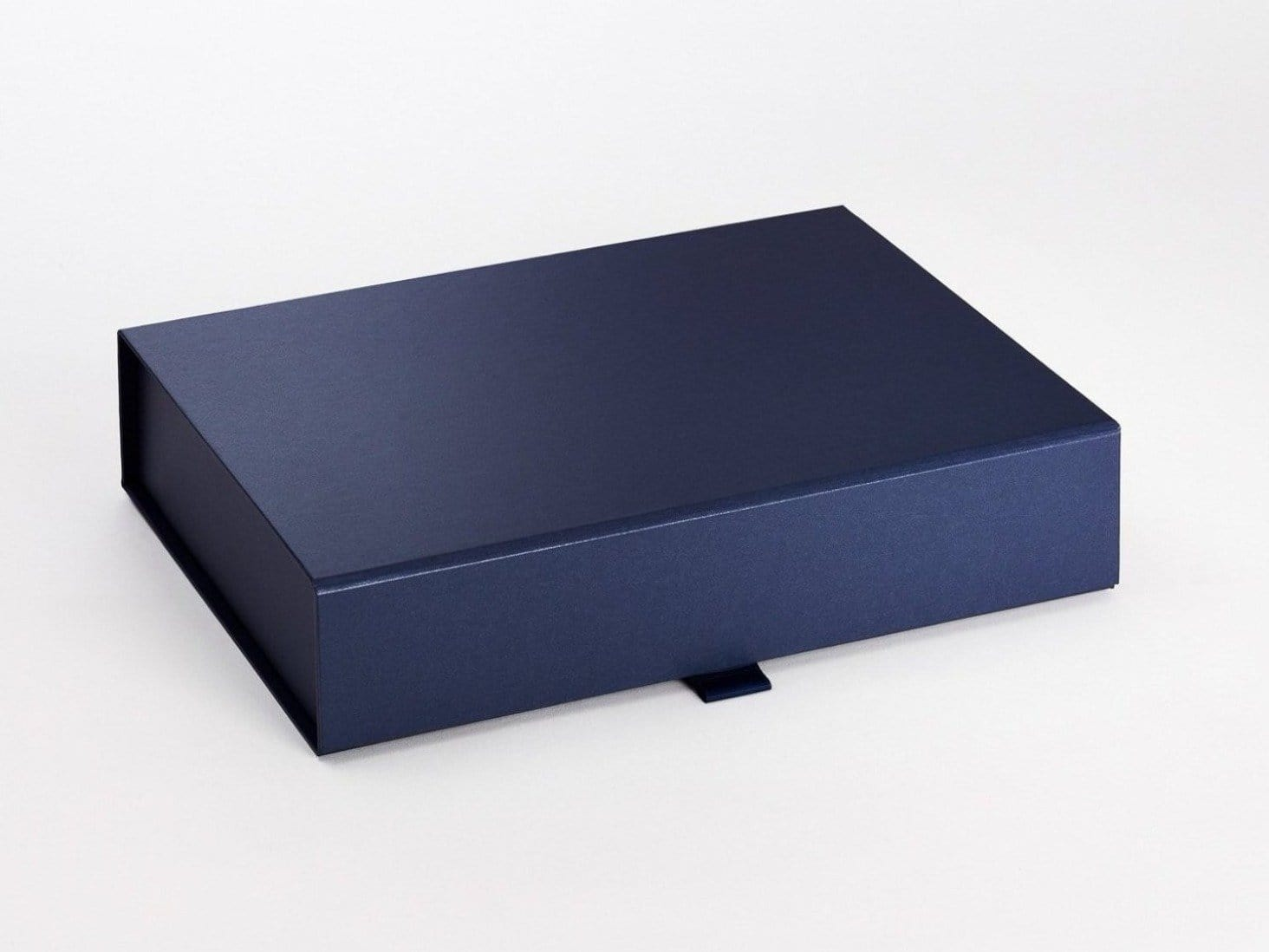 A4 Shallow Navy Blue Folding Gift Box