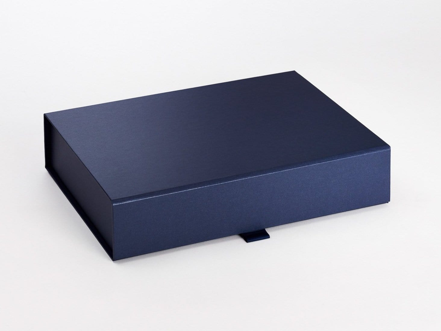 Navy Blue A4 Shallow Luxury Foldable Gift Box