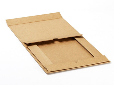 A4 Shallow Natural Kraft Folded Flat Gift Box Sample from Foldabox