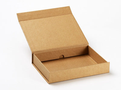 A4 Shallow Natural Kraft Gift Box Assembled from Foldabox