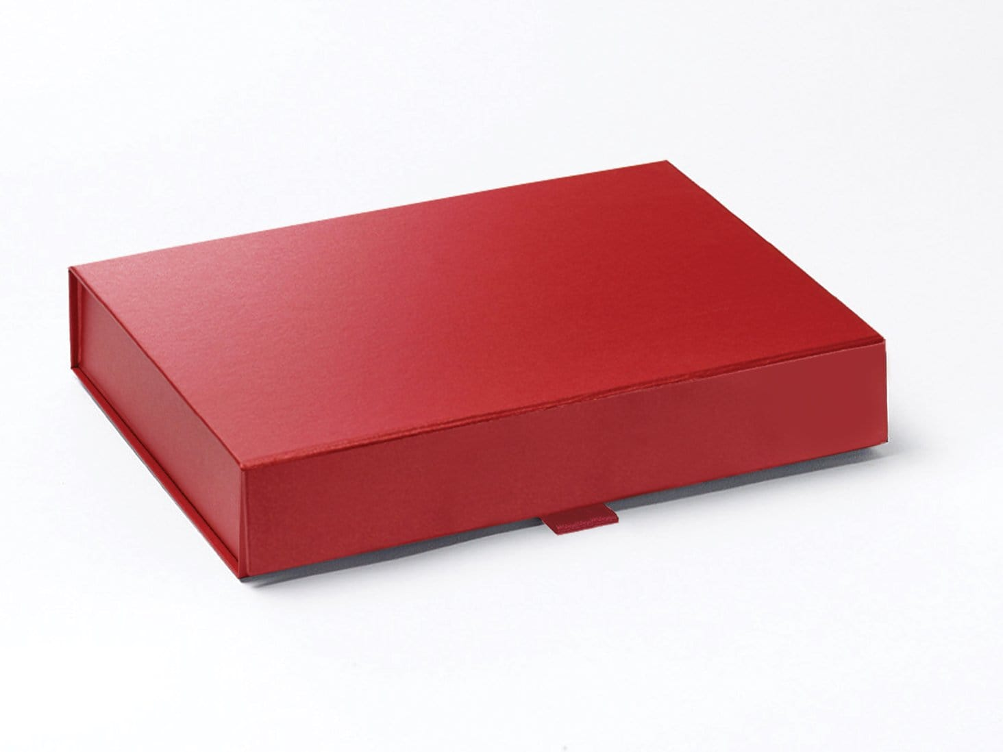 A5 Shallow Red Pearl Folding Gift Box with Magnetic Snap Shut Closure