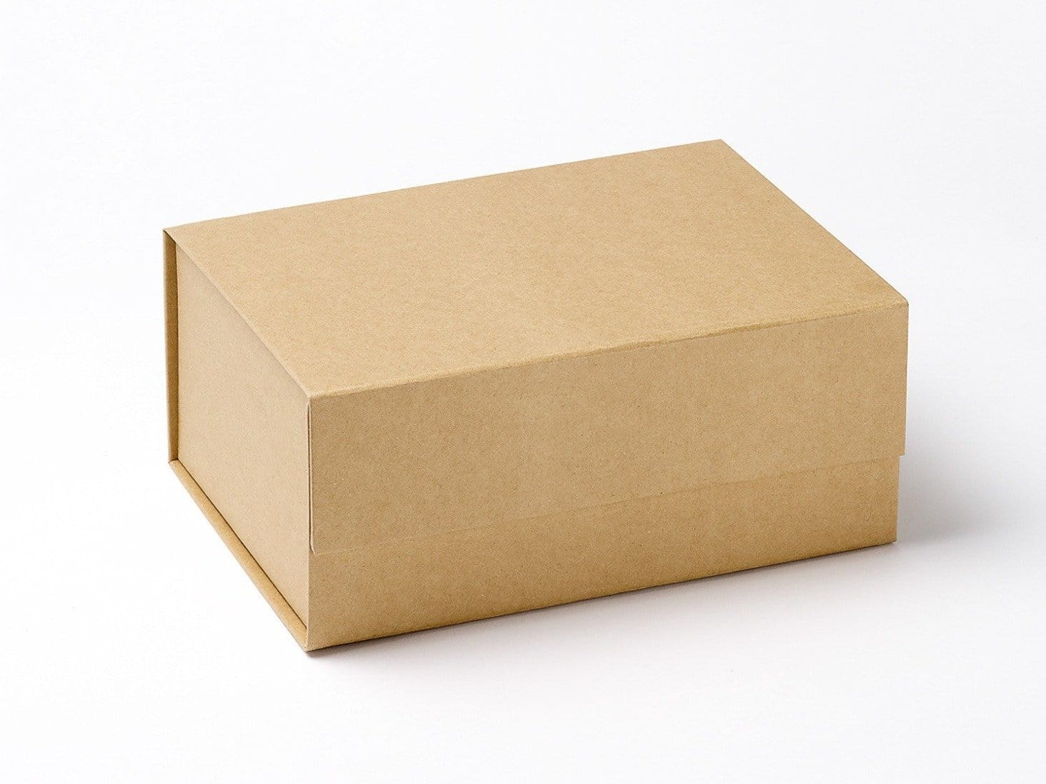 Foldabox UK A5 Deep Natural Kraft Folding Gift Box with Magnetic Snap Shut Closure