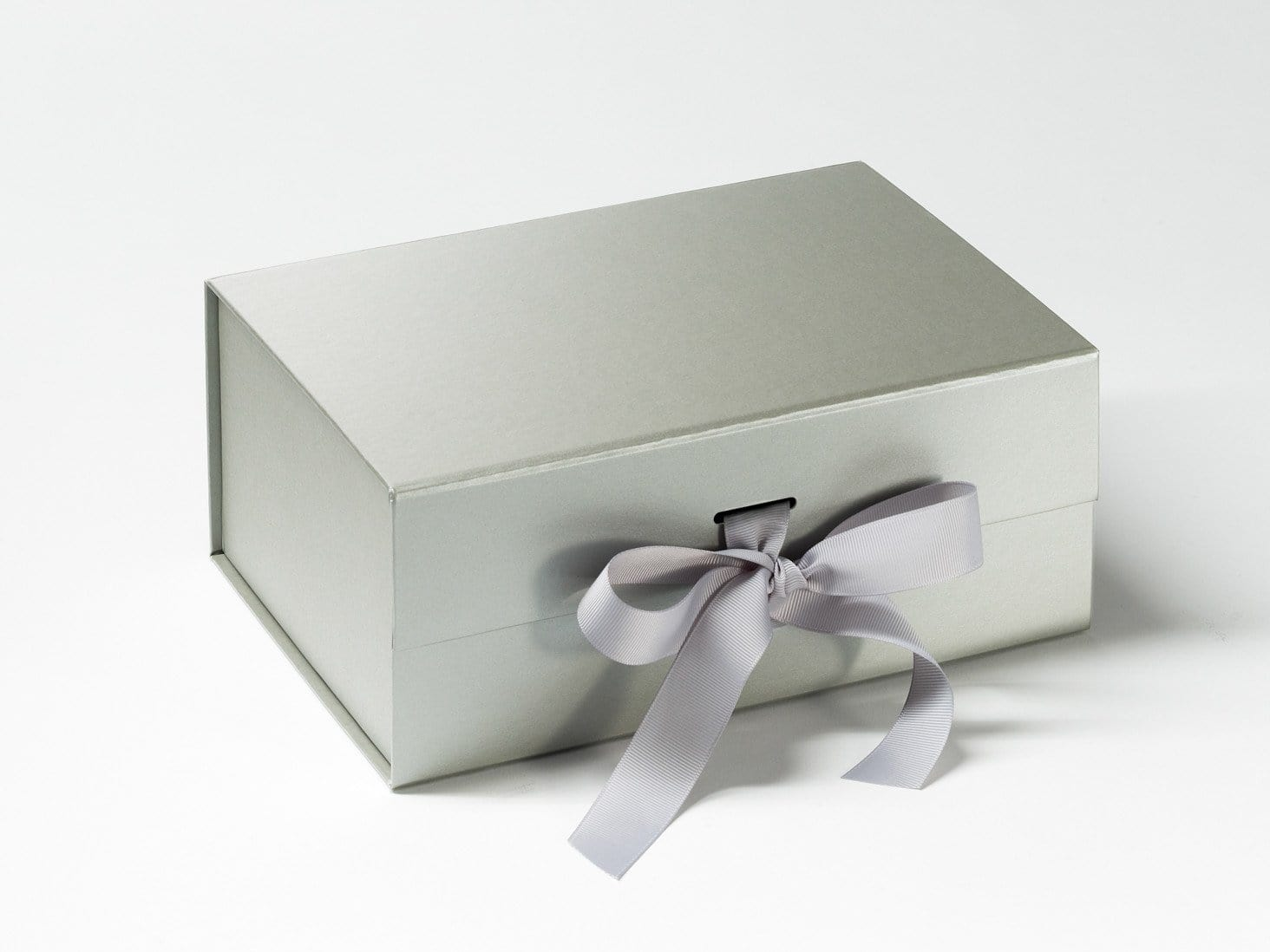 Silver Grey A5 Deep Slot Gift Box with changeable ribbon from Foldabox