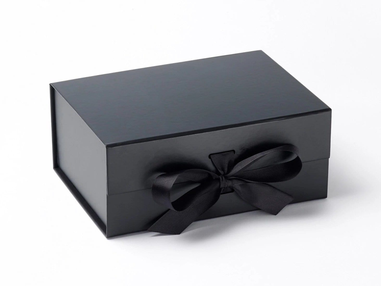 Black A5 Deep Slot Gift Box with changeable ribbon from Foldabox UK