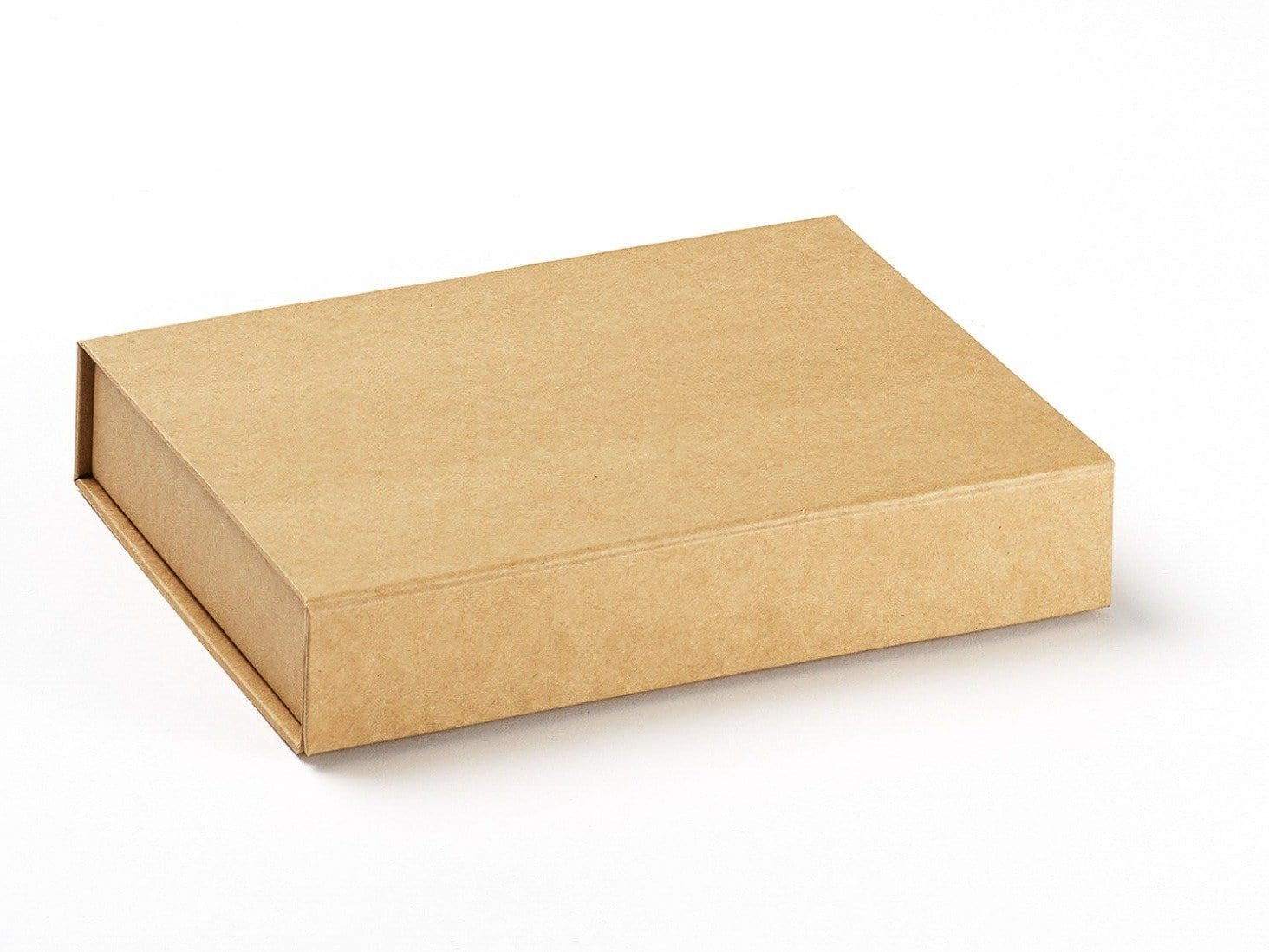 A5 Shallow Natural Kraft Gift Box for Organic and Eco-Friendly Product Packaging