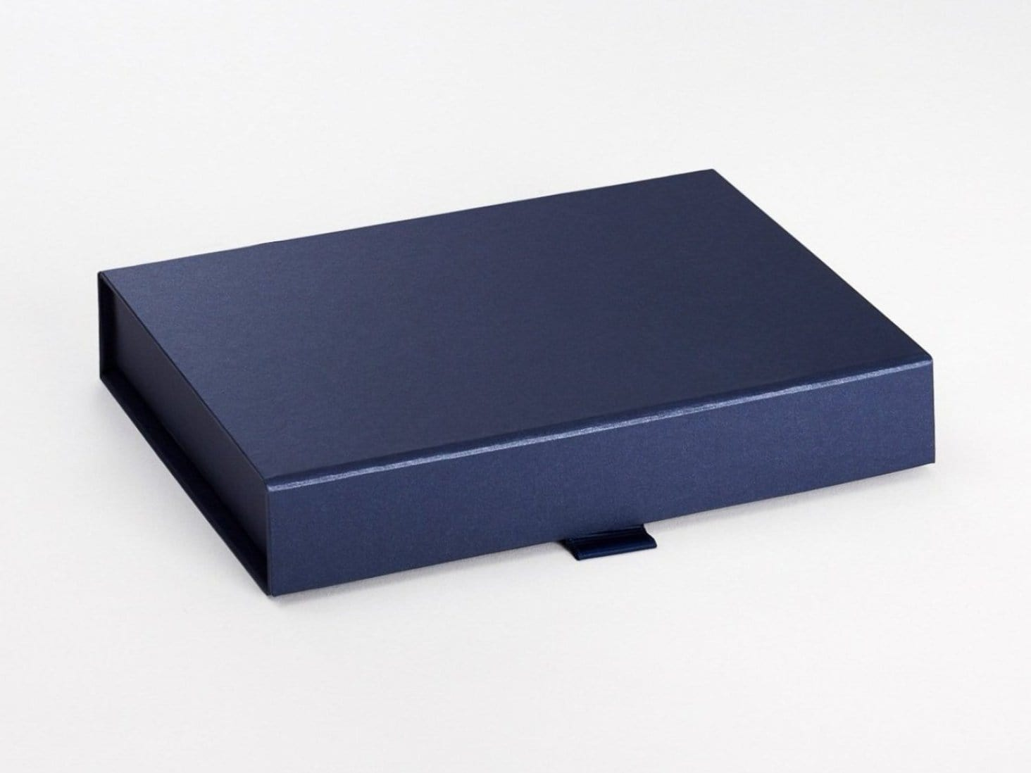 Navy Blue A5 Shallow Folding Gift Box Sample
