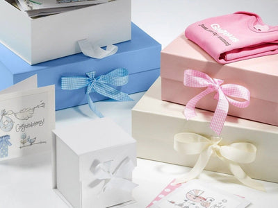 Folding Gift Boxes for Baby Gifts and Keepsake Hampers