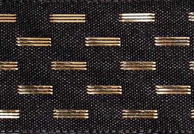 Black and Gold Dash Gift Box Ribbon