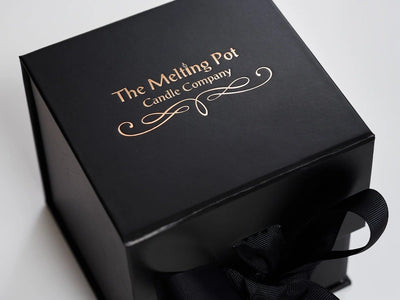 Large Black Cube Gift Box with Custom Printed Logo