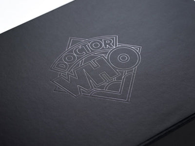Black Gift Box with Black Foil Custom Printed Design