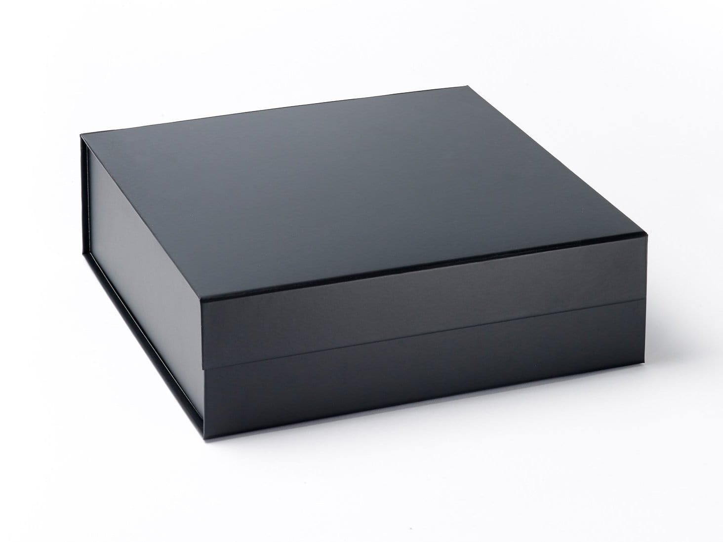 Large Black Folding Gift Box Without Ribbon from Foldabox