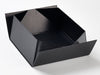 Black Lift Off Lid Gift Box Base Partially Assembled from Foldabox