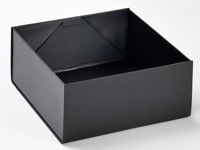 Black Lift Off Lid Gift Box Base Assembled from Foldabox