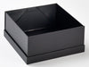 Black Lift Off Lid Gift Box with Lid assembled under Base from Foldabox