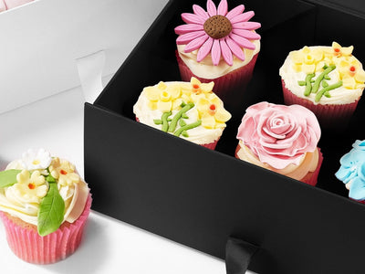 Black Gift Boxes Make Ideal Bakery Boxes for Cupcakes