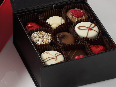 Small Black Gift Boxes for Luxury Chocolate Gift Packaging