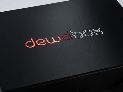 Custom 2 Colour Foil Logo onto Black Folding Gift Box