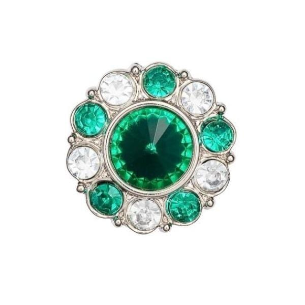 Emerald and Diamond Flower Gemstone Gift Box Closure