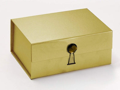 Luxury Gold Gift Box Featured with Smokey Quartz Gemstone Closure