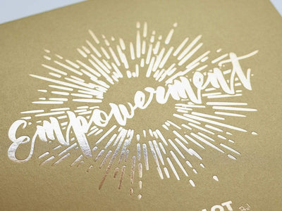 Gold Foil Custom Design On Gold Gift Box
