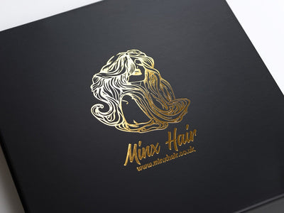 Black Gift Box with Custom Printed Gold Foil Logo