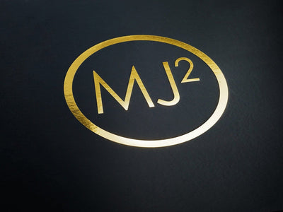 Custom Printed Gold Foil Logo onto Black Gift Box