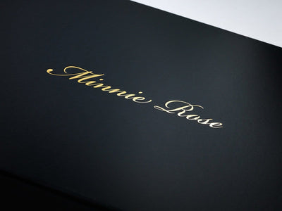 Black Stock Gift Box with Custom Gold Foil Logo to Lid from Foldabox UK