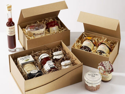 Natural Kraft Folding Gift Boxes for Eco-Friendly Gift and Food Packaging Hampers