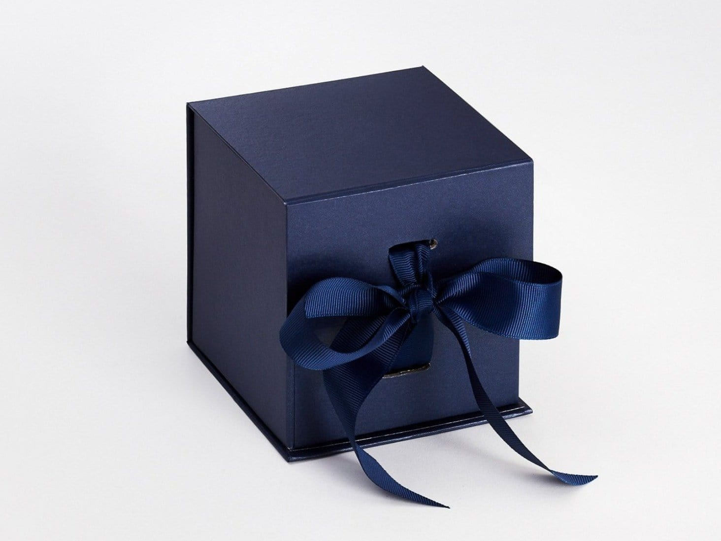 Navy Blue Large Cube Folding Gift Box Sample