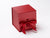 "Large 5"" Cube Gift Box in Red Pearl finish with Changeable Ribbon"