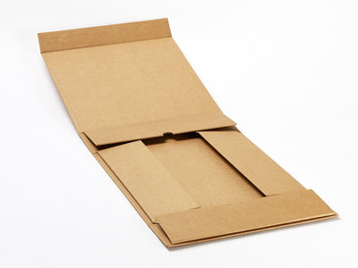 Foldabox Medium Natural Kraft Gift Box Open Flat