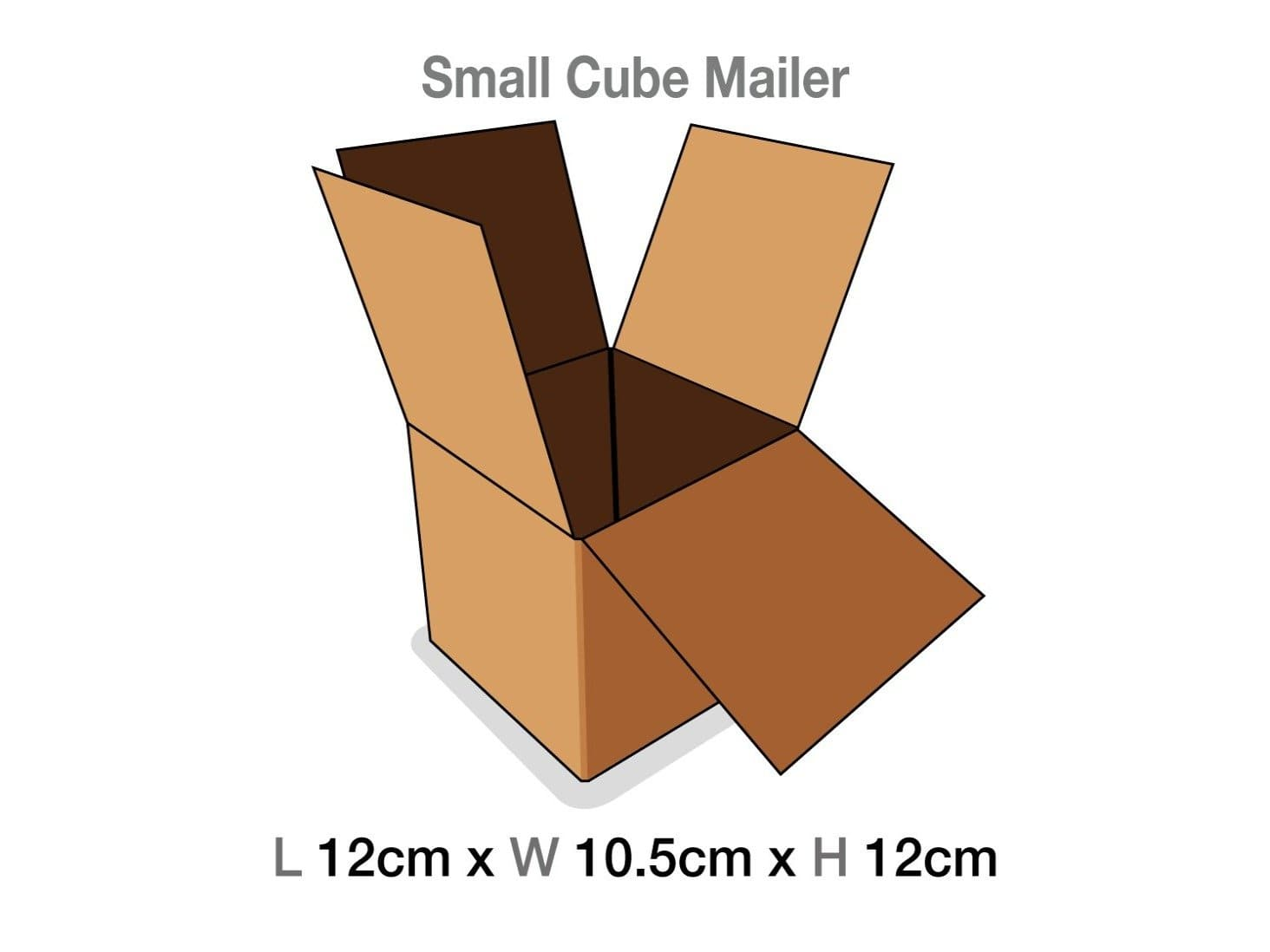 Small Cube Gift Box Protective Corrugated Mailing Carton