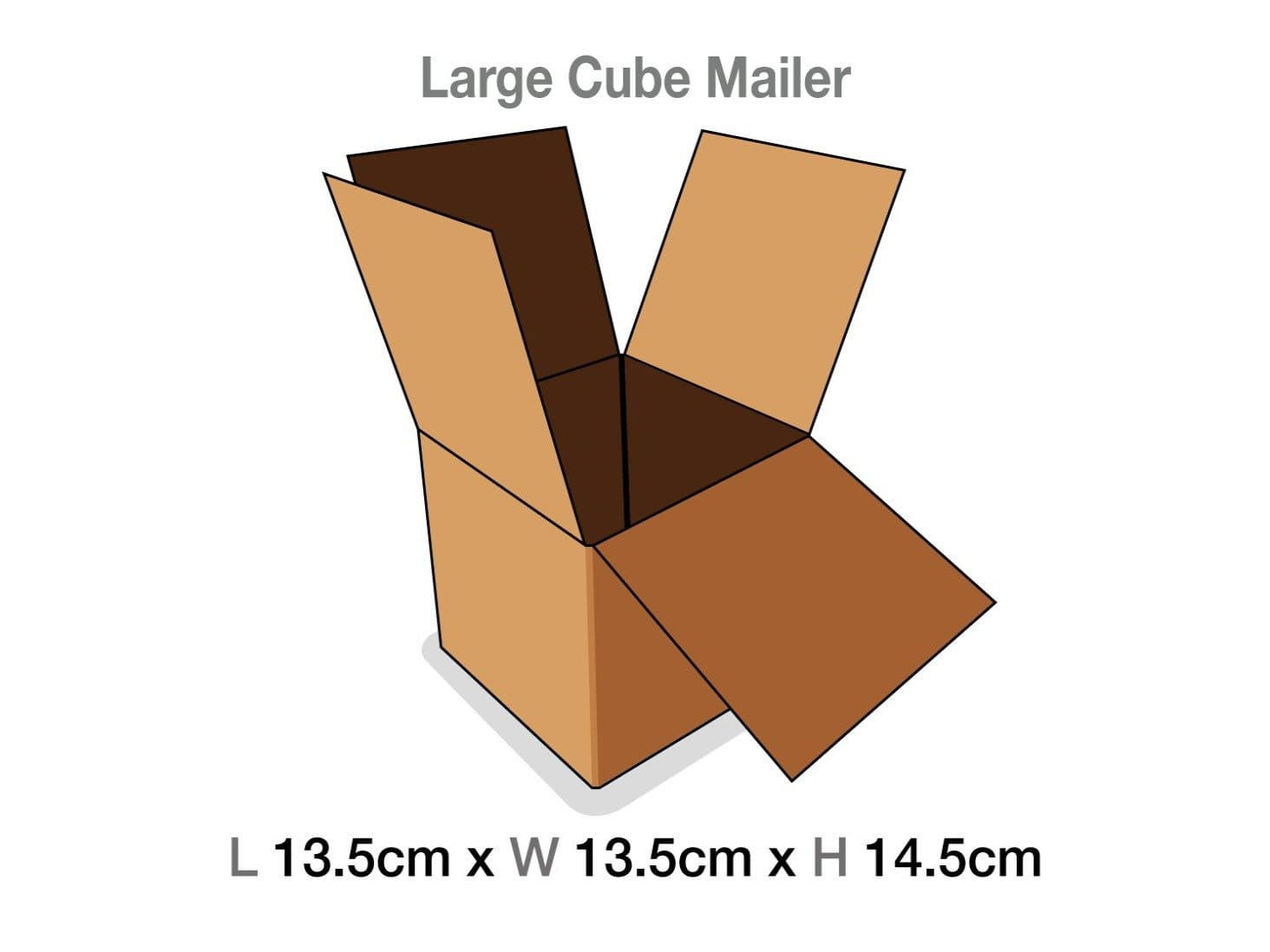 Large Cube Gift Box Protective Corrugated Mailing Cartons