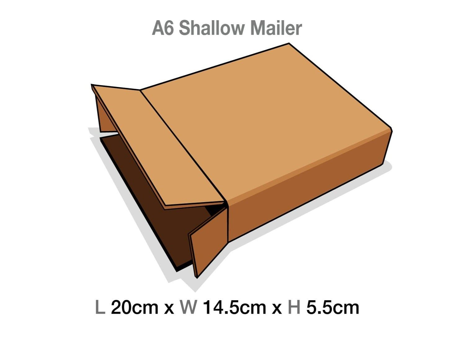 A6 Shallow Gift Box Protective Corrugated Mailing Carton Sample
